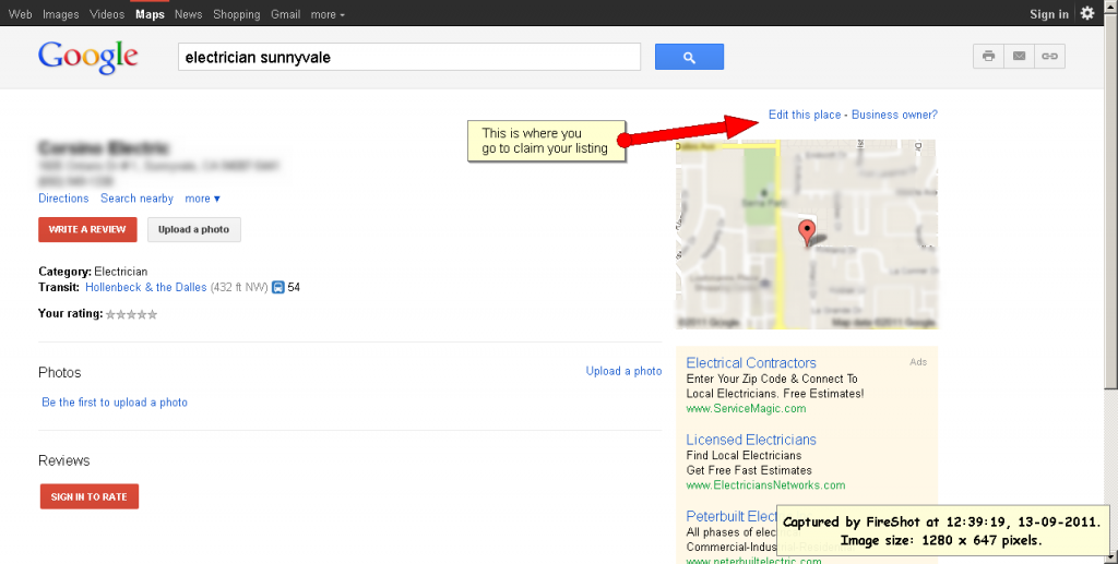 Google Places Listing2 1024x517 How to Claim Your Free Google Places Listing